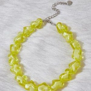 💕 Beautiful Oversized Chunky Hearts Necklace 💕